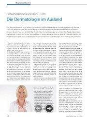 Dermatologin im Ausland
